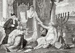 Napoleon granting freedom to worship to the Jews